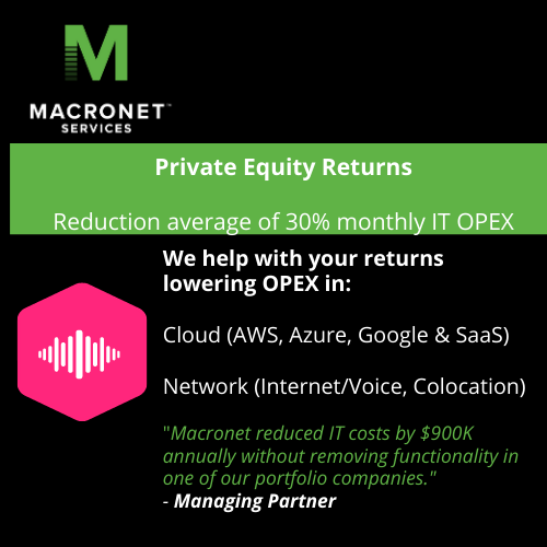 Private equity cost reduction
